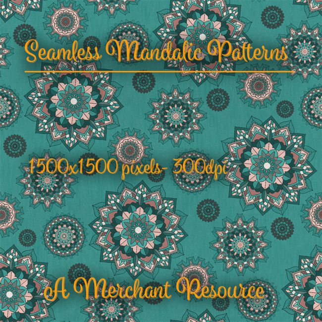Seamless Mandalic Patterns