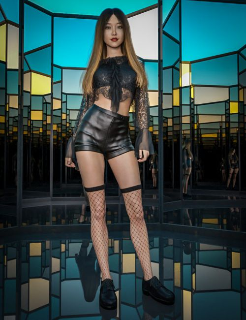 Pop Sensation Outfit with dForce for Genesis 8 Female(s)
