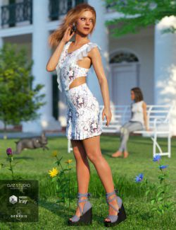 dForce Spring Mini Dress for Genesis 8 Female(s)