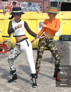 dForce Body Pop Outfit Textures