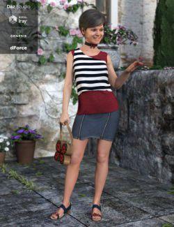 dForce Mariposa Princess Outfit for Genesis 8 Female(s)