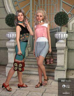 dForce Mariposa Princess Outfit Textures
