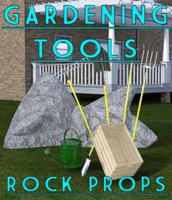 Gardening Tools & Rocks - Props