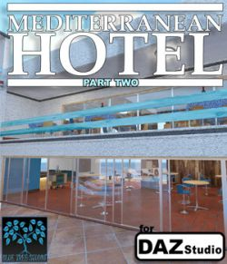 Mediterranean Hotel Part Two for Daz Studio
