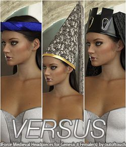 VERSUS - dForce Medieval Headpieces for Genesis 8 Female(s)