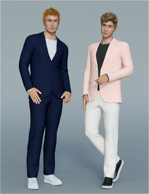 dForce H&C Spring Casual Suits for Genesis 8 Male(s)