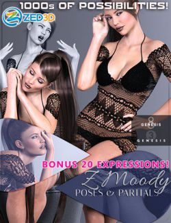 Z Moody Poses and Partials for Genesis 3 and 8 Female