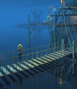 Four hanging bridges