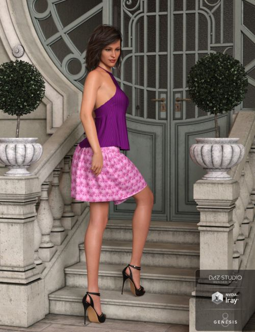 dForce Summertime Two Dress for Genesis 8 Females