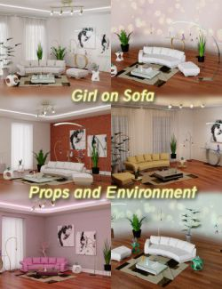 Girl on Sofa Props and Environment