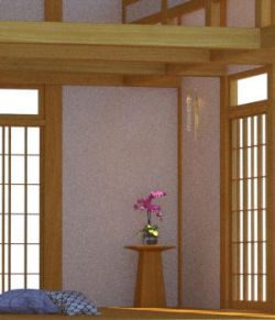 Timberframe Meditation Room- OBJ