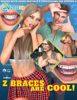 Z Braces are Cool for Genesis 8 Male and Female
