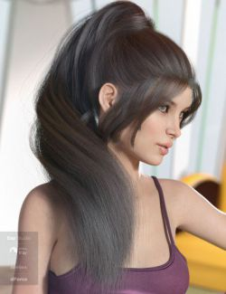 dForce Lea Hair for Genesis 3 and 8 Females(s)