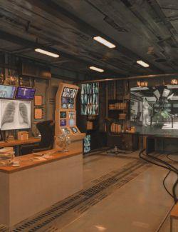 Futuristic Rustic Office