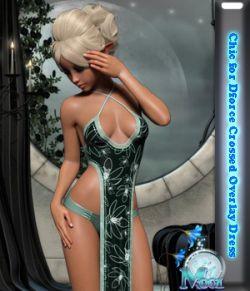 Chic for Dforce Crossed Overlay Dress