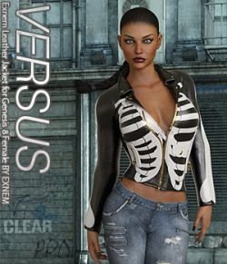 VERSUS- Exnem Leather Jacket for Genesis 8 Female