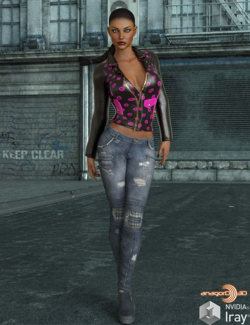 VERSUS - Exnem Leather Jacket for Genesis 8 Female