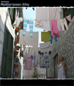 3D Scenery: Mediterranean Alley