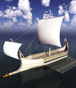 Elven War Ship for Blender