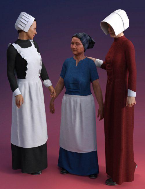 dForce Servant Dress for Genesis 8 Female(s)