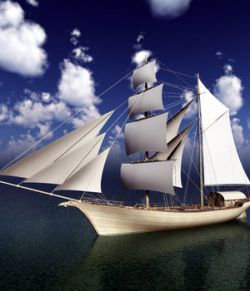 Elven Merchant Ship For Poser
