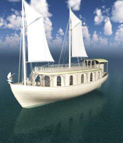 Elven House Ship for Blender