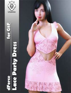 JMR dForce Lace Party Dress for G8F