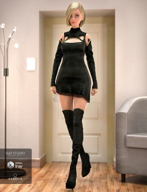 Panther Outfit for Genesis 8 Female(s)