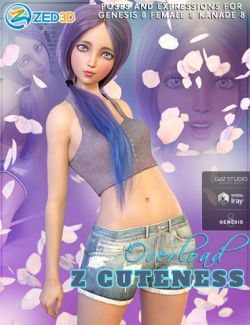 Z Cuteness Overload Poses and Expressions for Genesis 8 Female and Kanade 8