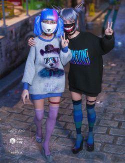 dForce Yami Kawaii Outfit Textures