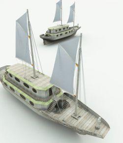 Elven Healer Ship for Poser