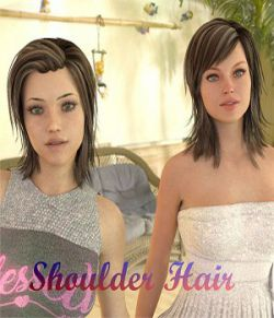 Shoulder Hair for Genesis 2 and 8 Female