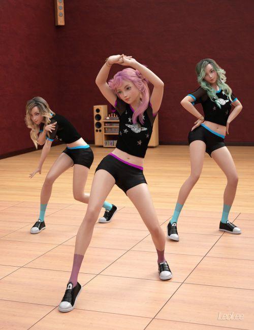 K-Pop Dance Poses for Kanade 8 and Genesis 8 Female