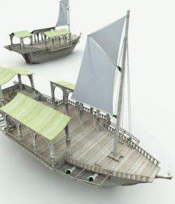 Elven Wizard Ship for Shade3D