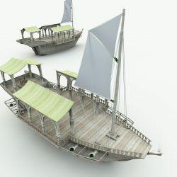 Elven Wizard Ship for Blender