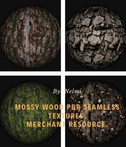 Mossy Wood PBR Textures- Merchant Resource