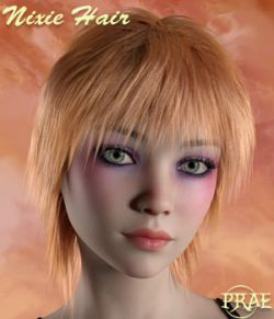 Prae-Nixie Hair For G3/G8 Daz