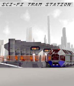 Sci-Fi Tram Station