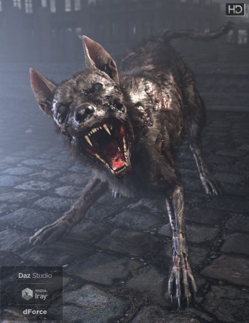 GP Zombie Dog for DAZ Dog 8