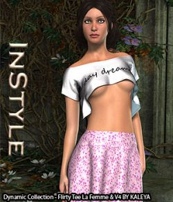 InStyle- Dynamic Collection- Flirty Tee La Femme and V4