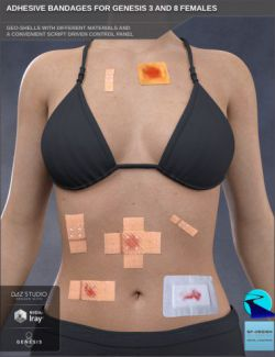 Adhesive Bandages for Genesis 3 and 8 Female(s)