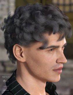 dForce Emile Hair for Genesis 3 and 8 Male(s)
