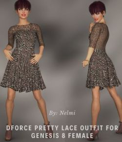 NELMI- Dforce Pretty Lace Outfit Genesis 8 Female