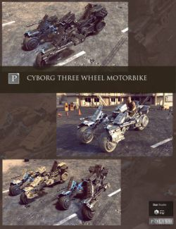 Cyborg Three Wheel Motorbike