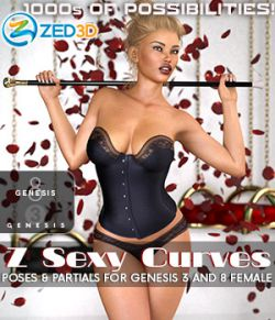 Z Sexy Curves Poses and Partials for Genesis 3 & 8 Females
