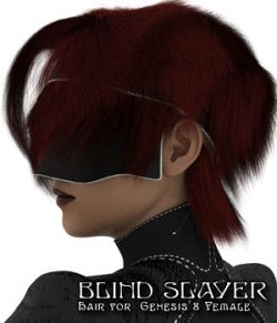 Blind Slayer Hair for Genesis 8 Female