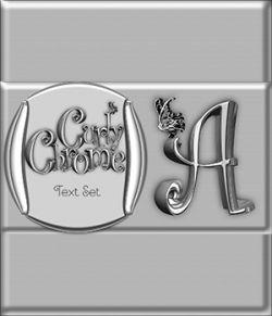 Curly Chrome Alphabet