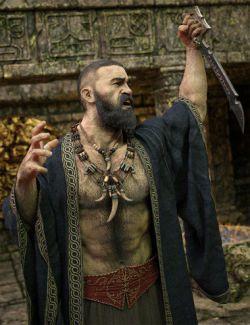 Dark Guard Hair, Beard and Body Hair for Genesis 8 Male(s)