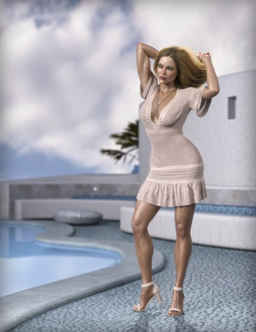 dForce MDSD Rhodes Summer Set Outfit for Genesis 8 Female(s)