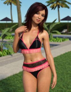 Fringe Bikini for Genesis 8 Female(s)